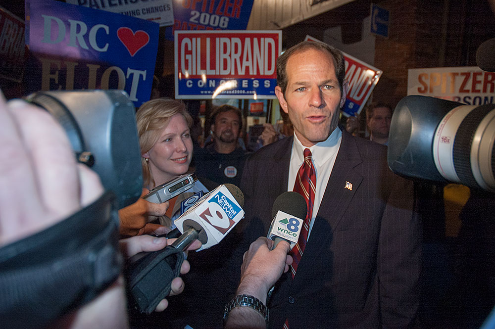 Eliot Spitzer and Kirsten Gillibrand