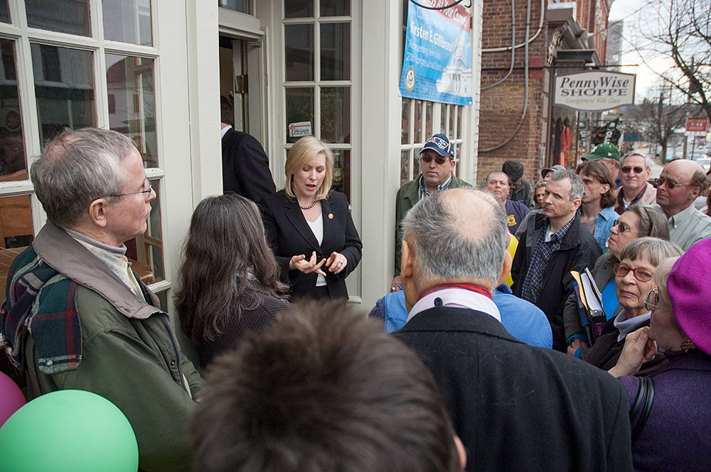 Congresswoman Kirsten Gillibrand in Greenwich, New York