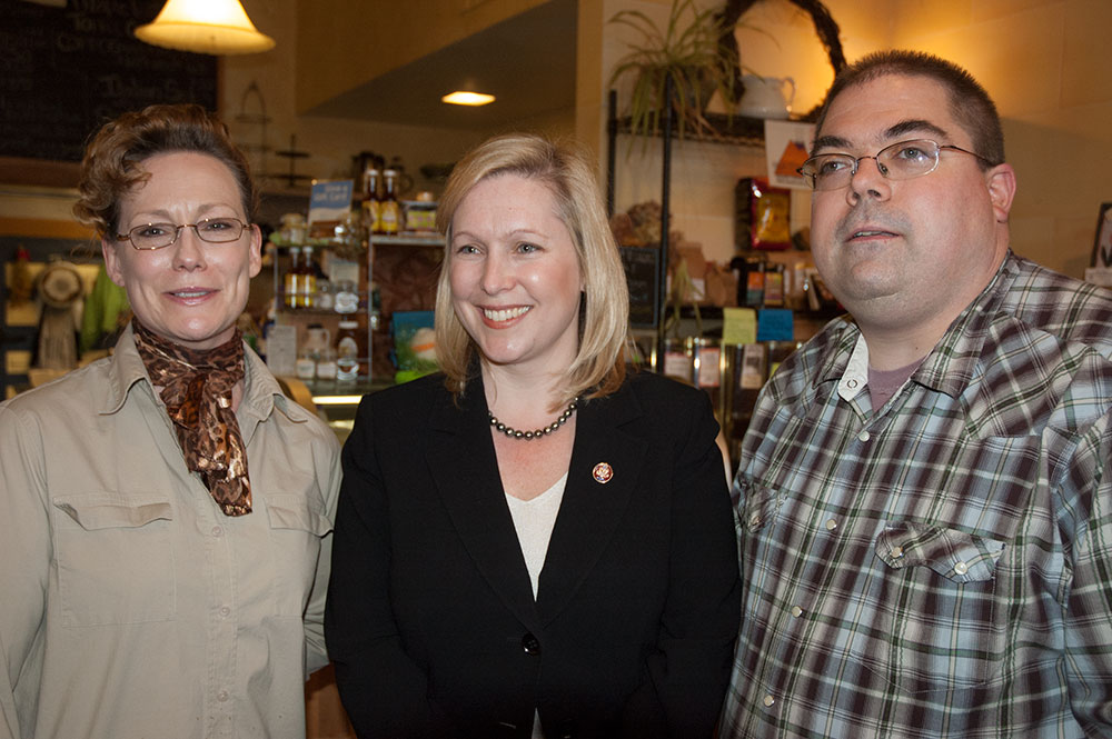 Beth and Greg of Something's Brewing, Congresswoman Gillibrand and Greg